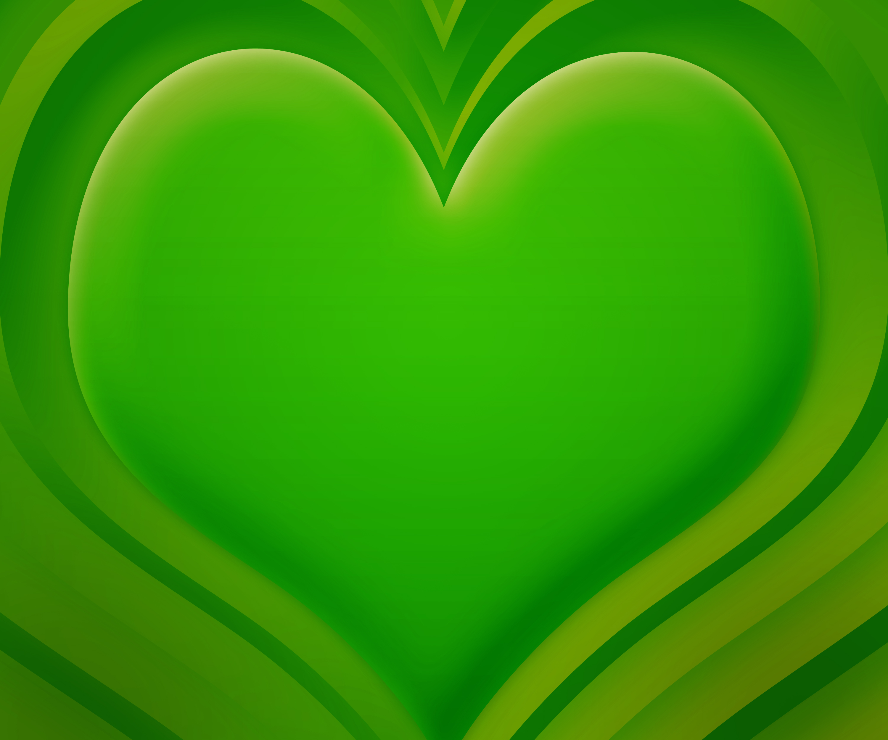 green hearts background - photo #14