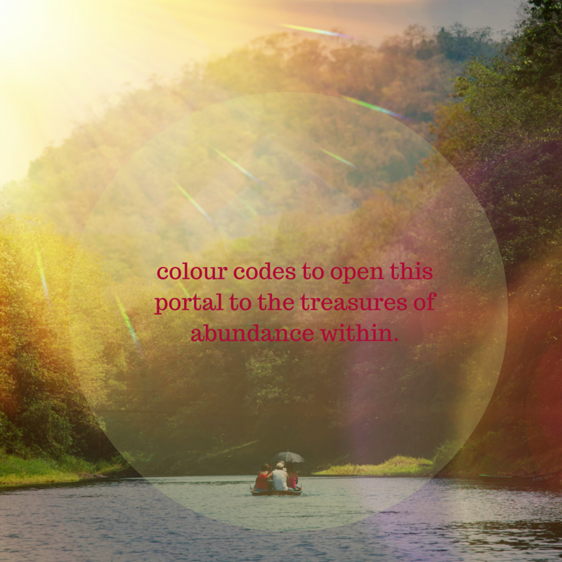colour codes to open this portal to the treasures of abundance within.